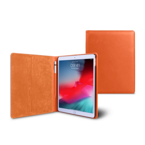 Coque iPad Air - Orange - Cuir Lisse