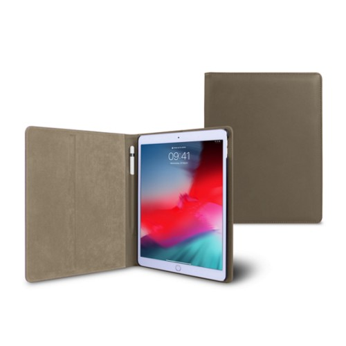 iPad Air Folder Case - Dark Taupe - Smooth Leather