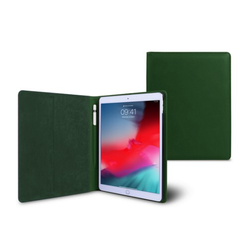 iPad Air Folder Case - Dark Green - Smooth Leather