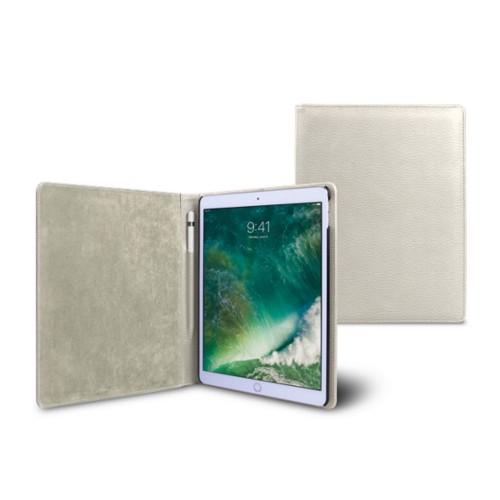 Funda para iPad de 9.7 pulgadas - Blanco Crudo - Piel Grano
