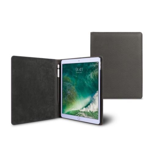 Funda para iPad de 9.7 pulgadas - Gris Ratón - Piel Grano