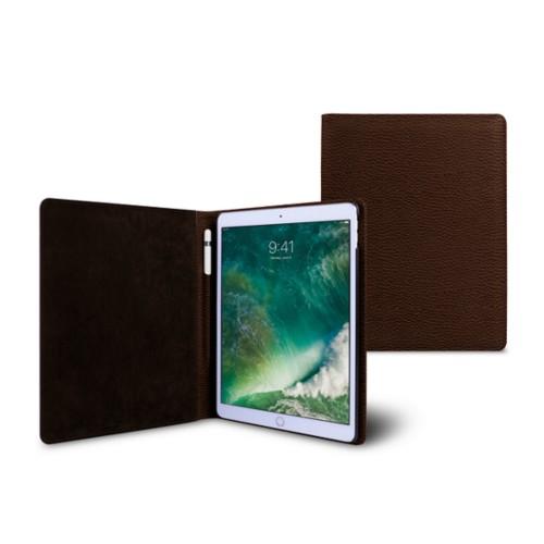 Funda para iPad de 9.7 pulgadas - Marrón oscuro - Piel Grano