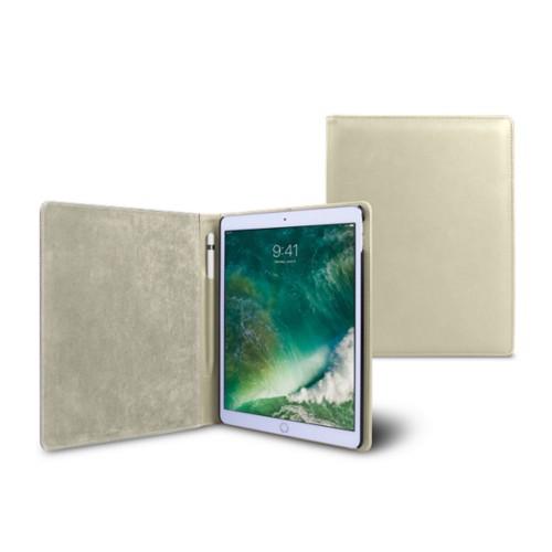 Funda para iPad de 9.7 pulgadas - Blanco Crudo - Piel Liso
