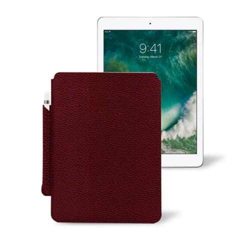 10,5 Zoll iPad Pro-Hülle mit Apple Pencil-Halter - Weinrot - Genarbtes Leder