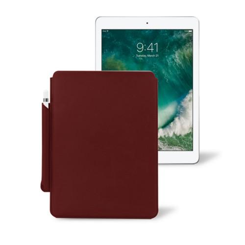10,5 Zoll iPad Pro-Hülle mit Apple Pencil-Halter - Weinrot - Glattleder