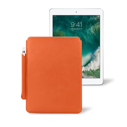 10,5 Zoll iPad Pro-Hülle mit Apple Pencil-Halter - Orange - Glattleder