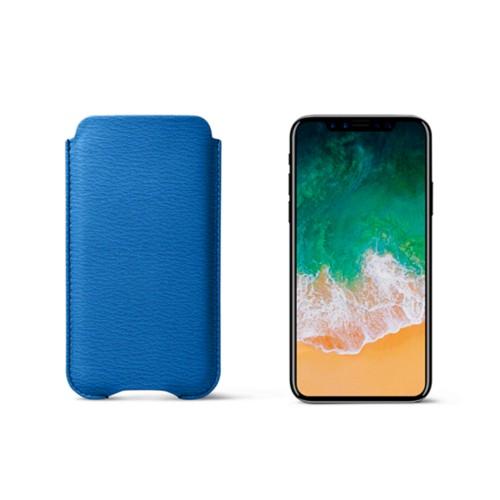 Funda protectora para iPhone X - Cielo Azul  - Piel de Cabra
