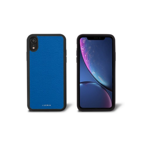 iPhone XR カバー - Royal Blue - Goat Leather