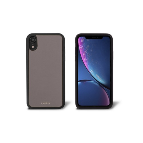 iPhone XR Cover - Light Taupe - Smooth Leather