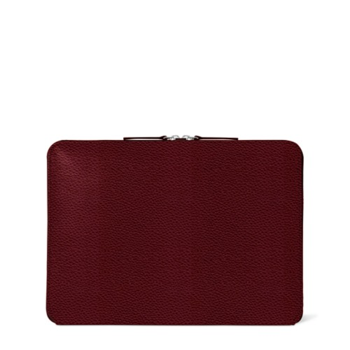 ファスナー付きケース MacBook Air 2018 - Burgundy - Granulated Leather
