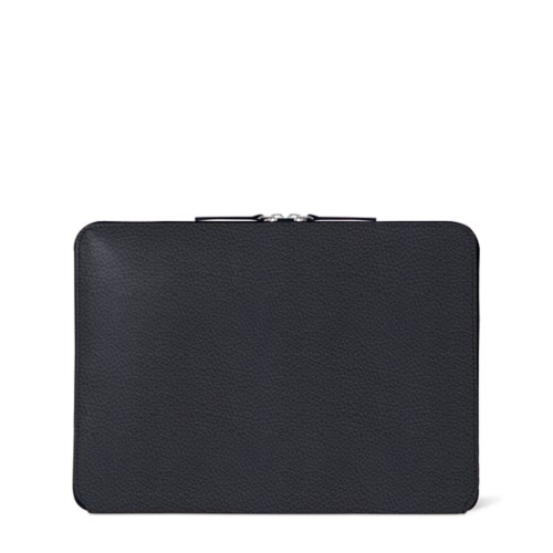 Zipped Case MacBook Air 2018 - Navy Blue - Granulated Leather