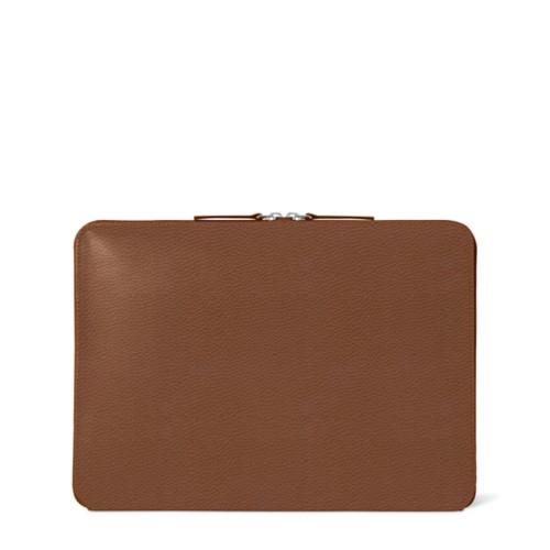 Zipped Case MacBook Air 2018 - Tan - Granulated Leather