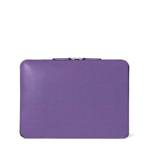 Zipped Case MacBook Air 2018 - Lavender - Granulated Leather