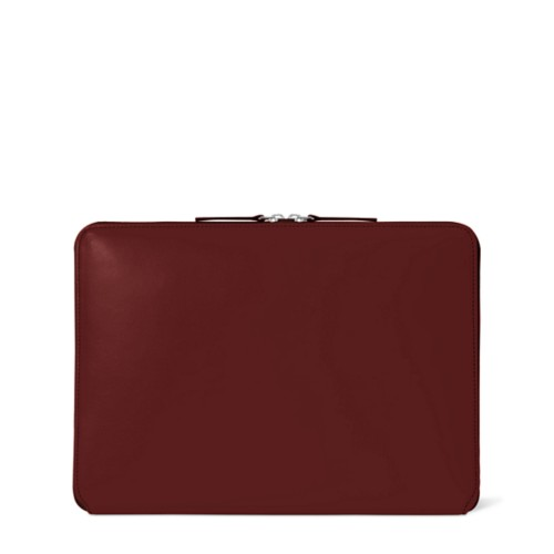 ファスナー付きケース MacBook Air 2018 - Burgundy - Smooth Leather