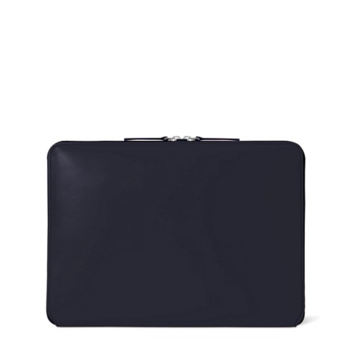 Zipped Case MacBook Air 2018 - Navy Blue - Smooth Leather