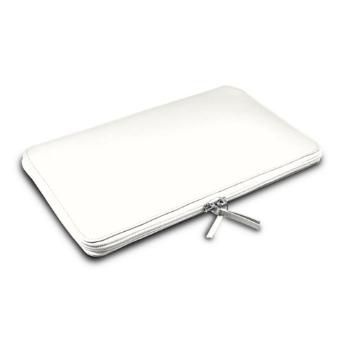ファスナー付きケース MacBook Air 2018 - White - Smooth Leather