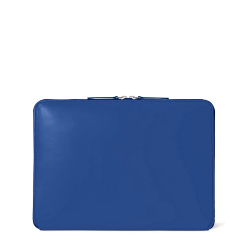 Custodia con zip per MacBook Air 2018 - Blu Reale - Pelle Liscia
