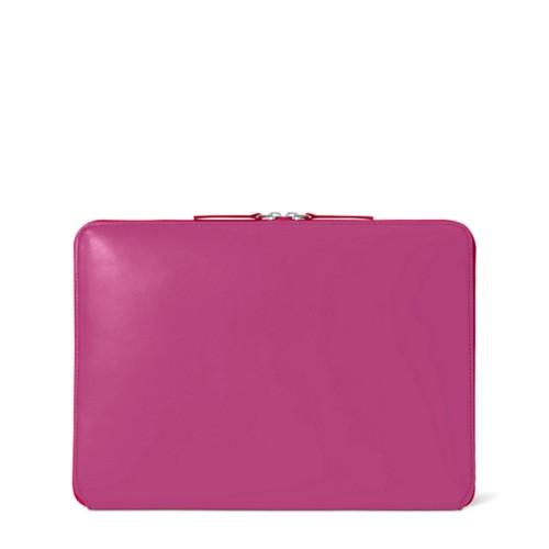 Funda con cremallera para MacBook Air 2018 - Fuchsia  - Piel Liso