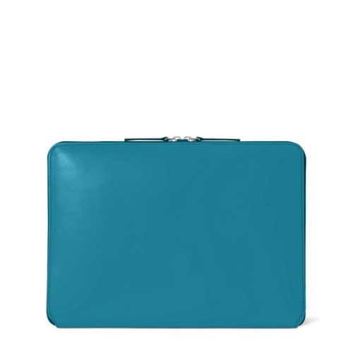 Zipped Case MacBook Air 2018 - Turquoise - Smooth Leather