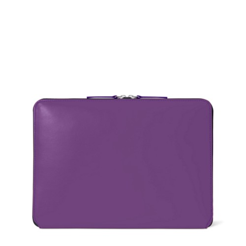 Zipped Case MacBook Air 2018 - Lavender - Smooth Leather