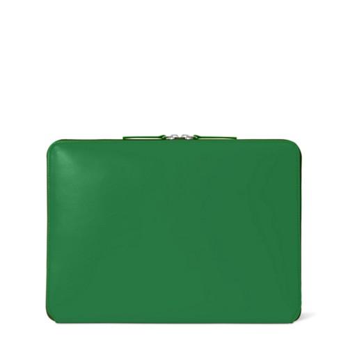 Funda con cremallera para MacBook Air 2018 - Verde claro - Piel Liso