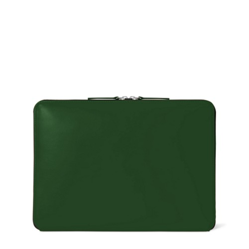 ファスナー付きケース MacBook Air 2018 - Dark Green - Smooth Leather