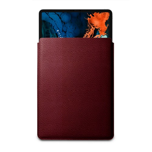 "Sleeve Case for iPad Pro 12.9"" 2018 - Burgundy - Granulated Leather"
