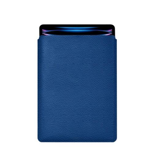 Hülle Für Das iPad Pro 12,9 Zoll 2018 - Königsblau  - Genarbtes Leder