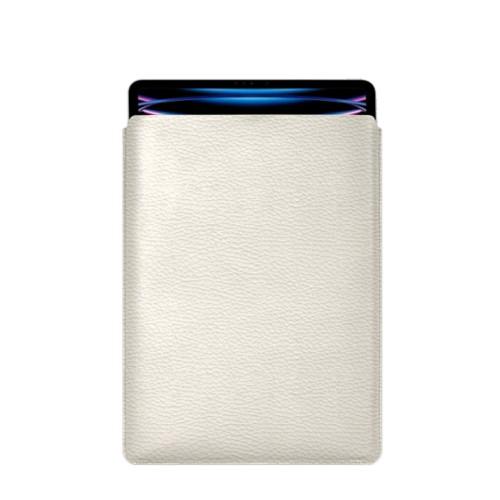 "iPad Pro 12.9"" 2018 付スリーブケース - Off-White - Granulated Leather"