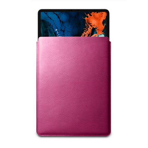 Hülle Für Das iPad Pro 12,9 Zoll 2018 - Fuchsia  - Genarbtes Leder
