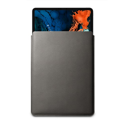 """Sleeve Case for iPad Pro 12.9"""" 2018 - Mouse-Grey - Granulated Leather"""
