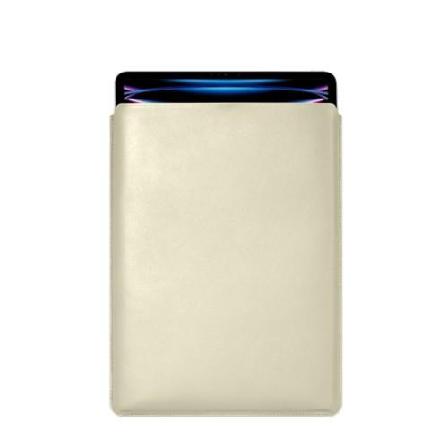 "iPad Pro 12.9"" 2018 付スリーブケース - Off-White - Smooth Leather"