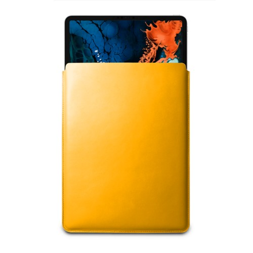 "Sleeve Case for iPad Pro 12.9"" 2018 - Sun Yellow - Smooth Leather"