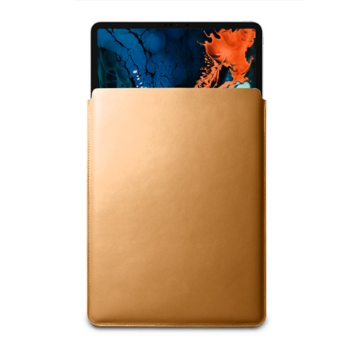 "Sleeve Case for iPad Pro 12.9"" 2018 - Natural - Smooth Leather"