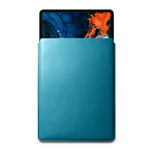 "Sleeve Case for iPad Pro 12.9"" 2018 - Turquoise - Smooth Leather"