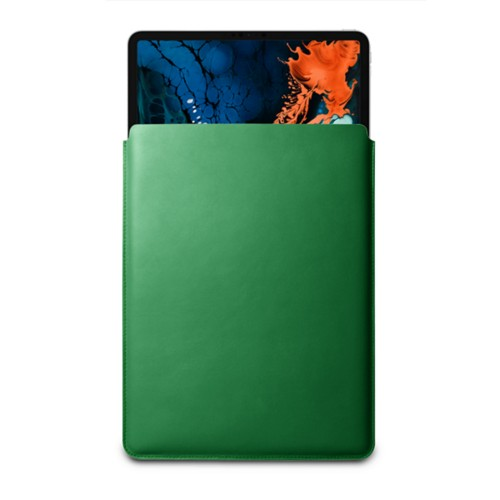 "Sleeve Case for iPad Pro 12.9"" 2018 - Light Green - Smooth Leather"