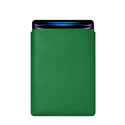 "iPad Pro 12.9"" 2018 付スリーブケース - Light Green - Smooth Leather"