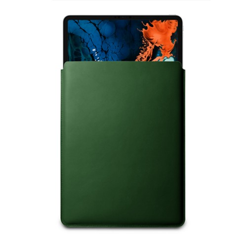 "Sleeve Case for iPad Pro 12.9"" 2018 - Dark Green - Smooth Leather"