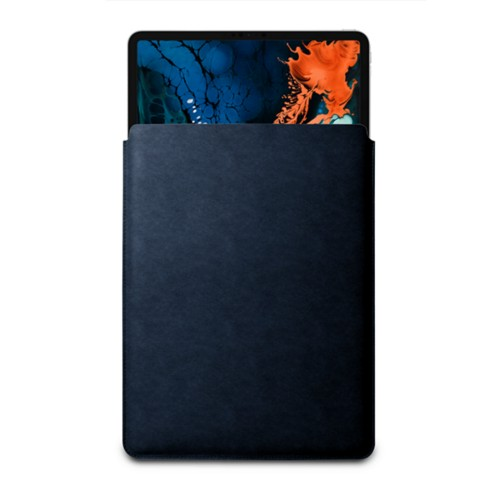 "Sleeve Case for iPad Pro 12.9"" 2018 - Navy Blue - Vegetable Tanned Leather"