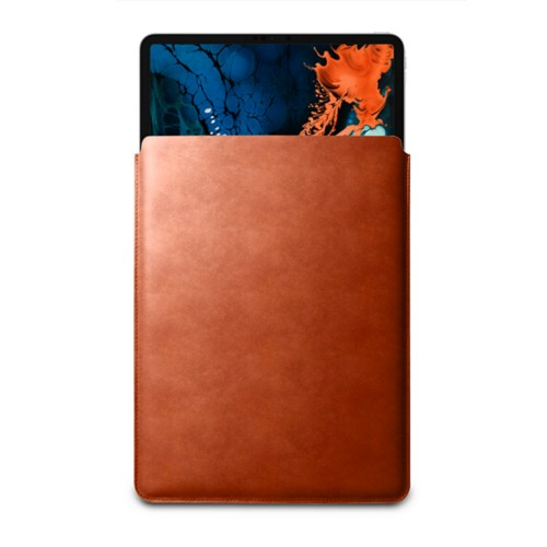 "Sleeve Case for iPad Pro 12.9"" 2018 - Tan - Vegetable Tanned Leather"
