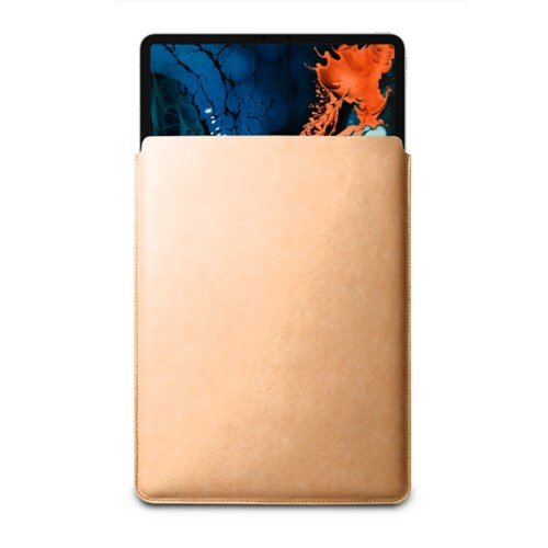 "Sleeve Case for iPad Pro 12.9"" 2018 - Natural - Vegetable Tanned Leather"