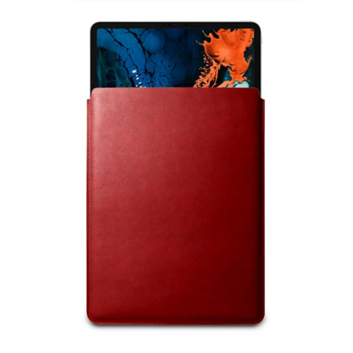 """Sleeve Case for iPad Pro 12.9"""" 2018 - Carmine - Vegetable Tanned Leather"""