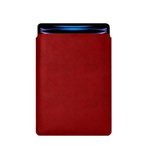 "iPad Pro 12.9"" 2018 付スリーブケース - Carmine - Vegetable Tanned Leather"