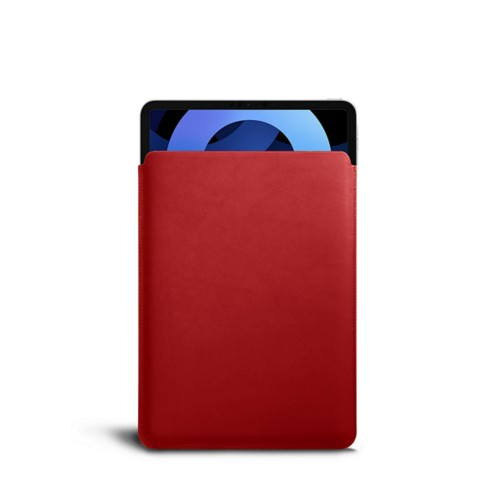 Protective Sleeve for iPad Air 4 2020 - Red - Smooth Leather