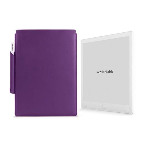 タブレット用スリーブケース - Lavender - Smooth Leather