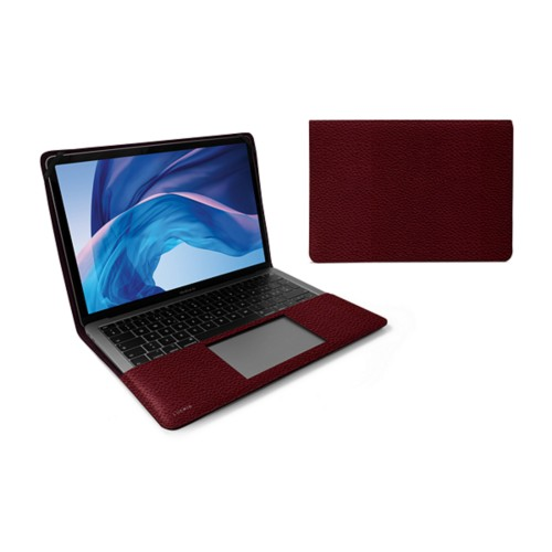 13-inch MacBook Air case - Burgundy - Granulated Leather