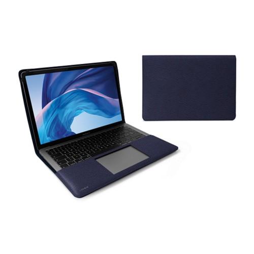 Écrin MacBook Air 13 pouces - Bleu Marine - Cuir Grainé