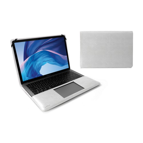 13-inch MacBook Air case - White - Granulated Leather