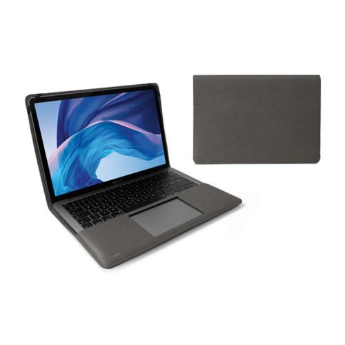 Écrin MacBook Air 13 pouces - Gris Souris - Cuir Grainé