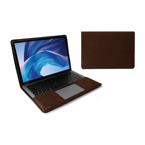 Écrin MacBook Air 13 pouces - Marron Foncé - Cuir Grainé
